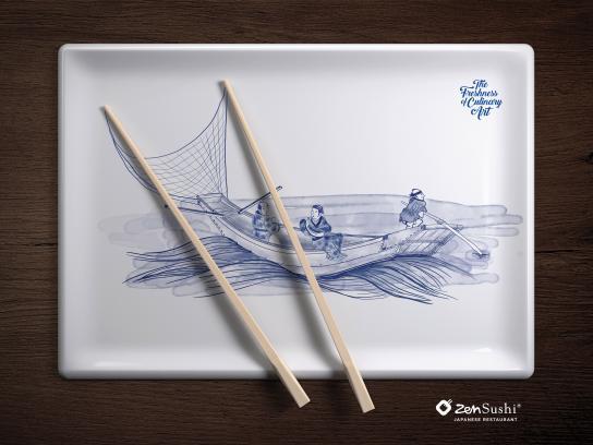 ZenSushi Print Ad - Culinary Arts, 1