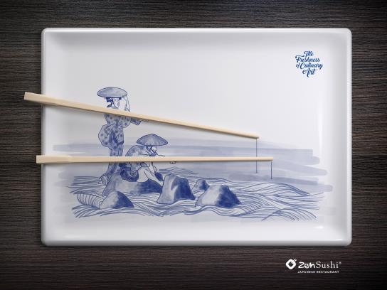ZenSushi Print Ad - Culinary Arts, 2