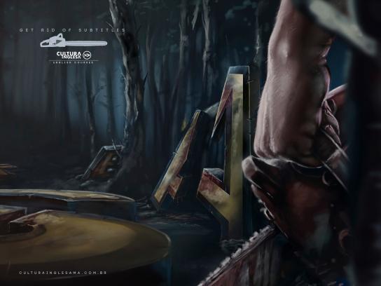 Cultura Inglesa Print Ad -  Chainsaw