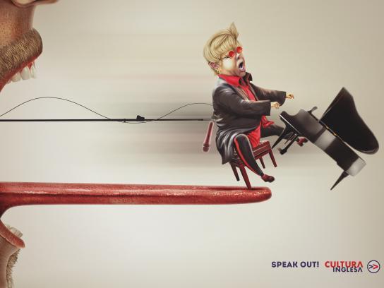 Cultura Inglesa Print Ad - Elton