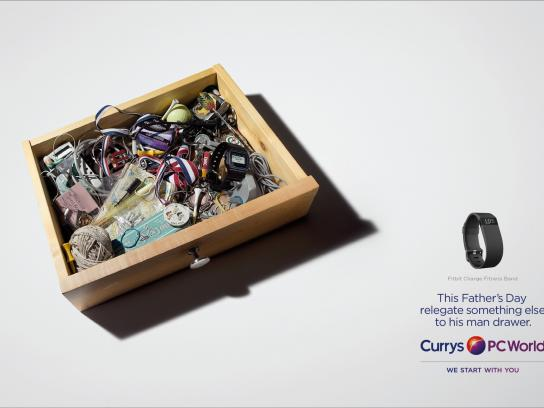 Currys Print Ad -  Man drawer, 2