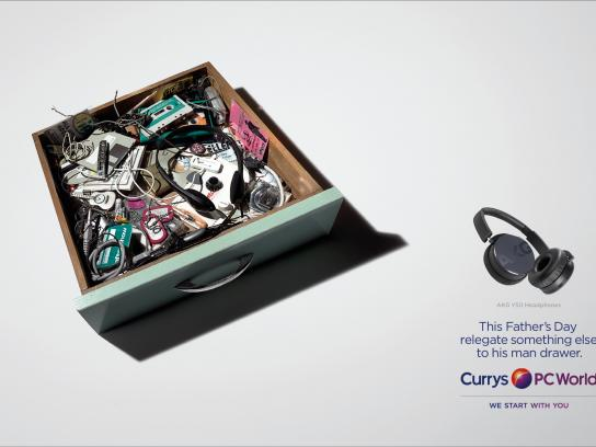 Currys Print Ad -  Man drawer, 3