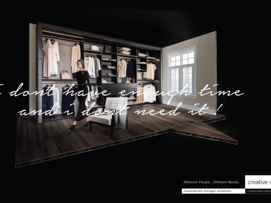 Creative Closets Print Ad -  Customized Storage