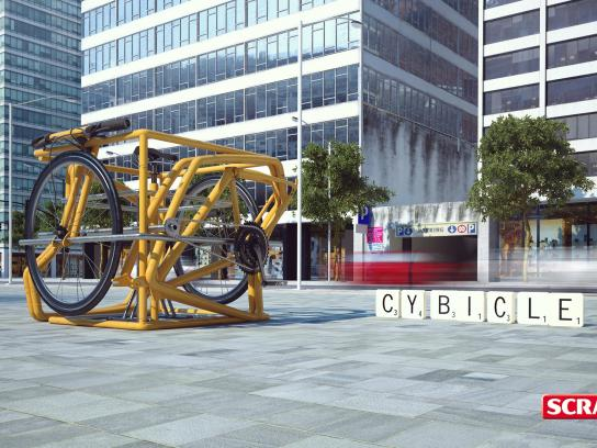Scrabble Outdoor Ad -  Cybicle