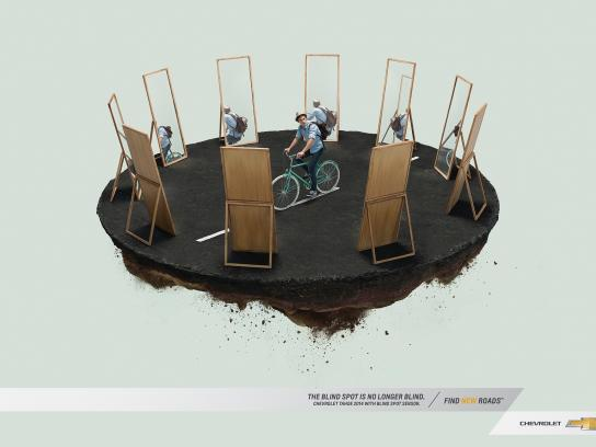Chevrolet Print Ad -  Cyclist