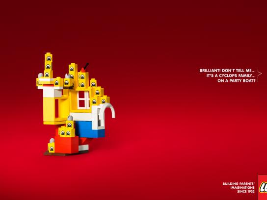 Lego Print Ad - Cyclops Family