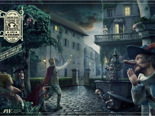 Madrid Book Publishers Association Print Ad -  Cyrano