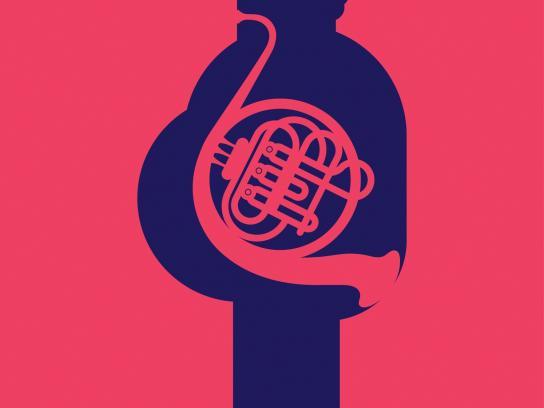 Dabur Print Ad -  French horn