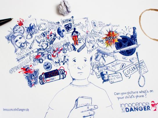Innocence In Danger Print Ad - Danger Doodle, 1