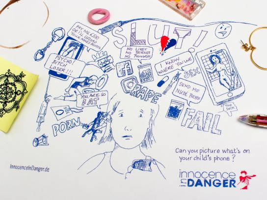 Innocence In Danger Print Ad - Danger Doodle, 2