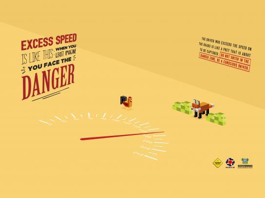 Detran-RN Print Ad - Danger zone, 1