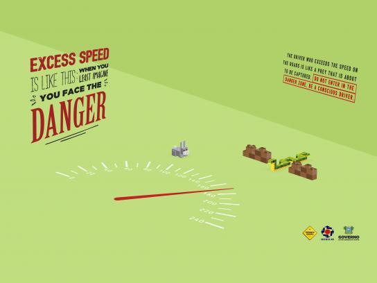 Detran-RN Print Ad - Danger zone, 4