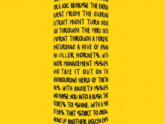 Dark Dog Print Ad -  Yellow