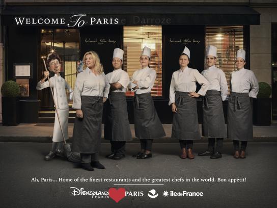 Disneyland Paris Print Ad - Darroze
