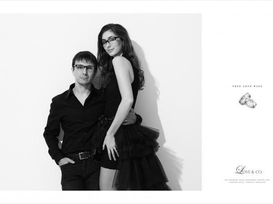 Love & Co. Print Ad -  True love wins, Dave & Tanya