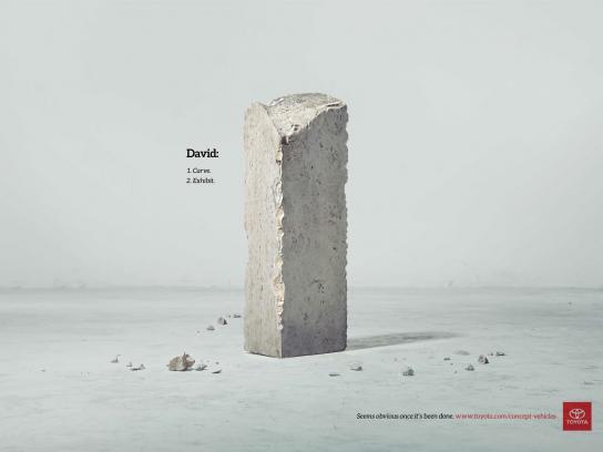 Toyota Print Ad -  David