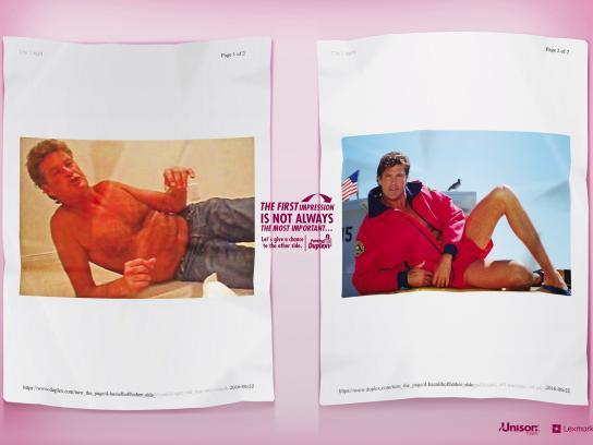 Lexmark Print Ad - David Hasselhoff