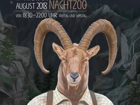 Salzburg Zoo Print Ad - Night Zoo - Capricorn