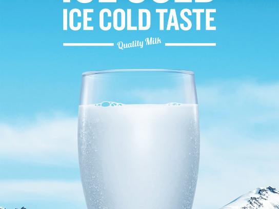 Dairy Farmers of Canada Print Ad - Ice Cold