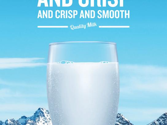 Dairy Farmers of Canada Print Ad - Smooth and crisp