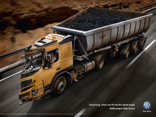 Volkswagen Print Ad -  Dead Angle Truck, 1