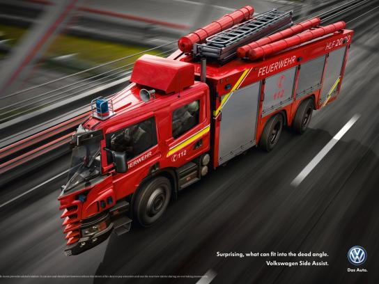 Volkswagen Print Ad -  Dead Angle Truck, 2