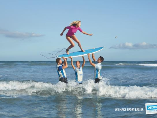 Decathlon Print Ad -  Surf