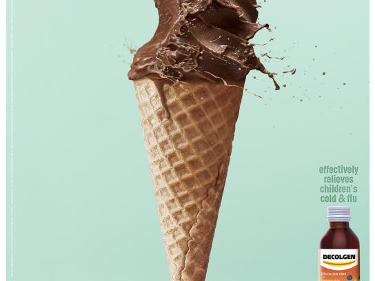 Decolgen Print Ad - Sneeze The Ice Cream