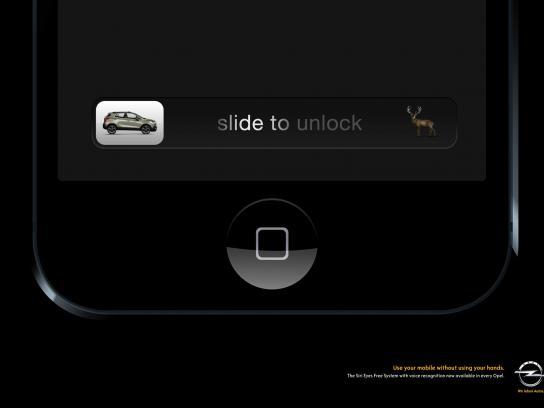 Opel Print Ad -  Deer