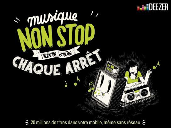 Deezer Print Ad -  Music, 1