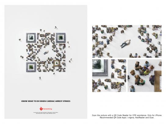 Dutch Heart Foundation Print Ad -  QR Bystanders