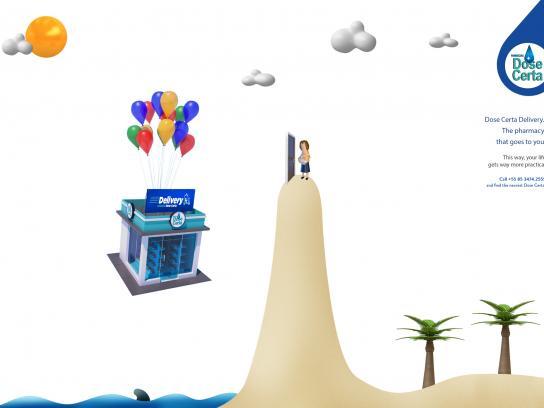 Dose Certa Print Ad - Delivery - Beach