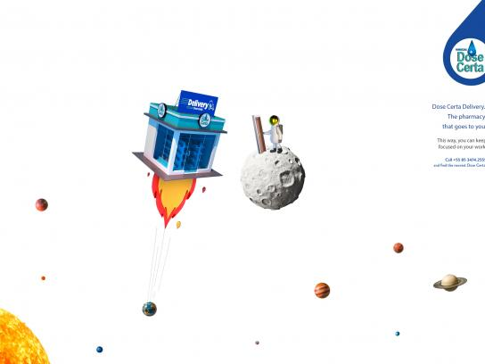 Dose Certa Print Ad - Delivery - Space