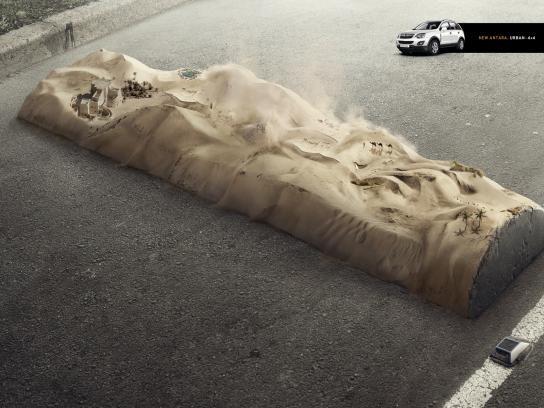 Opel Print Ad -  Desert