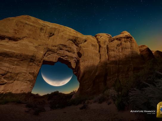 Ticket To The Moon Print Ad - Desert Moon