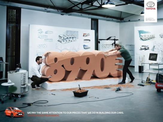 Toyota Print Ad -  Price, 1