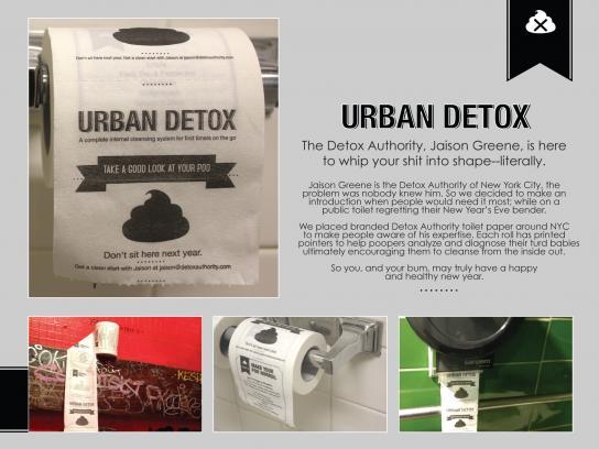 Detox Authority Ambient Ad -  Toilet paper