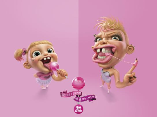 Dos en Uno Print Ad - Before and After - Rockstar