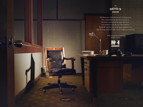 New Zealand Insurance Print Ad -  The devil's chair