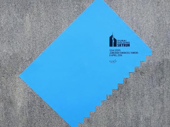 SkyRun Outdoor Ad -  The tilted poster