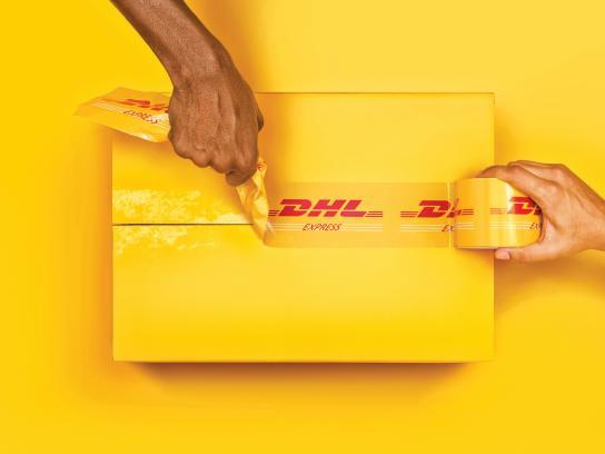 DHL Print Ad -  Hands, 2
