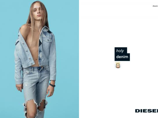 Diesel Print Ad -  Holy Denim