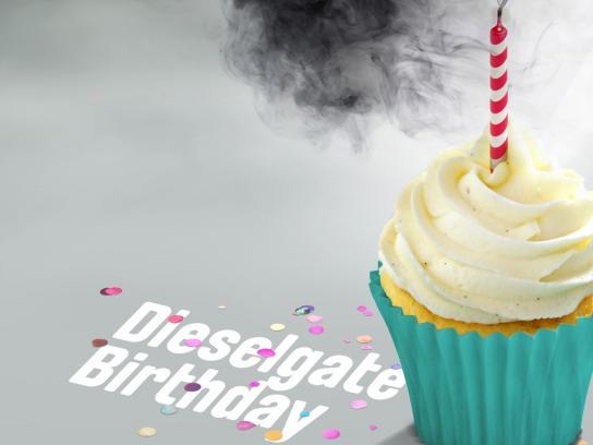 Greenpeace Print Ad - Dieselgate Birthday