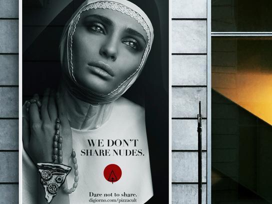 """DiGiorno Outdoor Ad -  Pizza Cult """"Dare Not to Share"""", 2"""