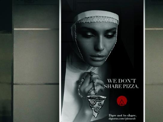 """DiGiorno Outdoor Ad -  Pizza Cult """"Dare Not to Share"""", 3"""