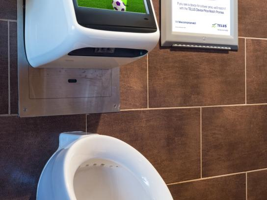 TELUS Ambient Ad -  Urinal game