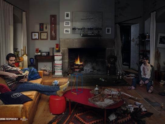 Corona Beer Print Ad -  Living room