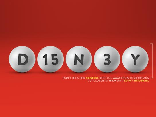 Loto Chile Print Ad - Get Closer To Your Dreams - Disney