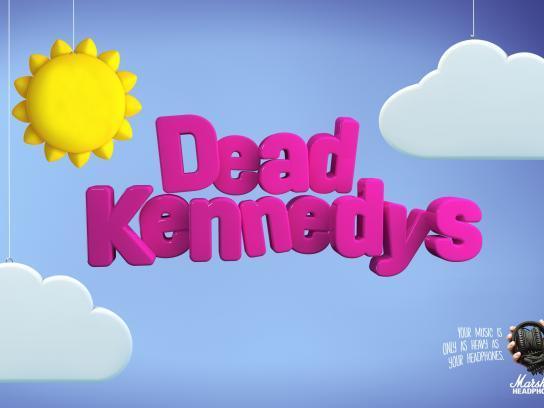 Marshall Headphones Print Ad -  Dead Kennedys