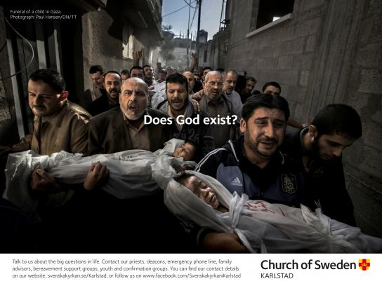 Church of Sweden Outdoor Ad -  Big Questions, 1